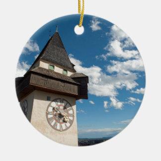 Graz Austria Glockenturn (Clock tower) on Schlossb Ceramic Ornament