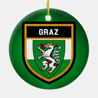 Graz Flag Ceramic Ornament