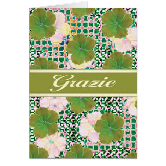 Grazia Italian thank you w/ blank inside Card