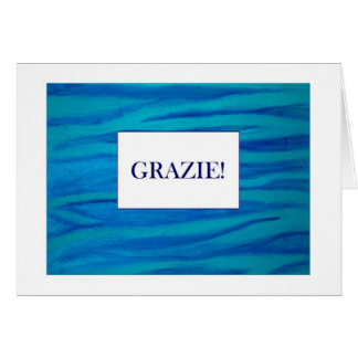 Grazie Thank You in Italiano card