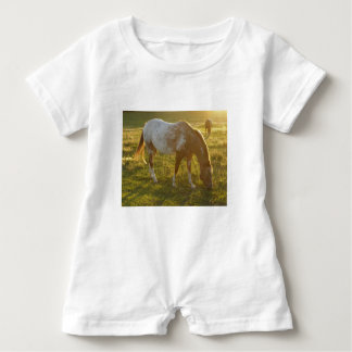 Grazing Appaloosa Horse Baby Bodysuit