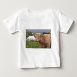 Grazing Highland Cow Baby T-Shirt
