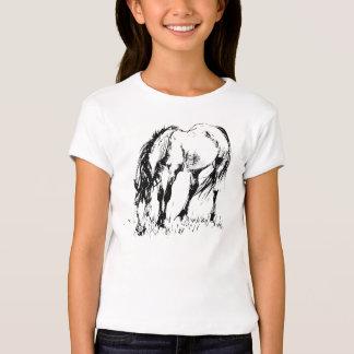 Grazing Horse Illustration Tshirt