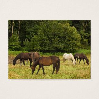 Grazing Horses ATC Business Card