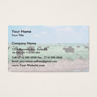Grazing on Wetland (cows) Business Card