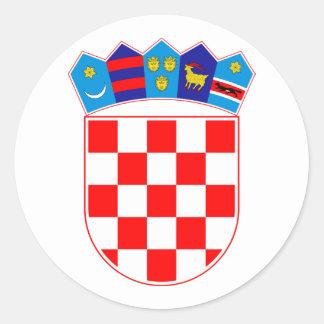 Grb Hrvatske, Croatian coat of arms Classic Round Sticker