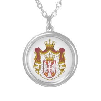 Grb Srbije, Serbian coat of arms Silver Plated Necklace