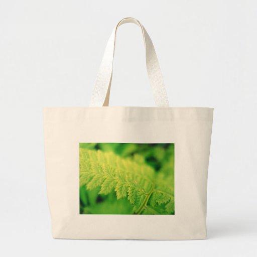 Grean leaf canvas bag