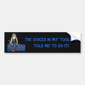 Grease Monkey Customized Toolbox Sticker (Blue)