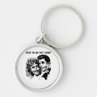 Grease Zombie Keychain--Nerdtastic Designs Silver-Colored Round Key Ring