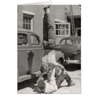 Greaser Gymnasts Card