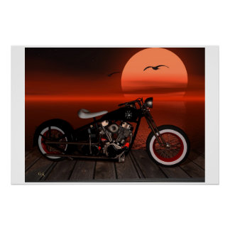 Greaser Sunset Poster