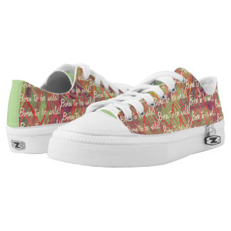 Great Abstract Design Pink, Purple, Mint Green Low Tops