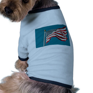 Great American flag flying Pet Shirt