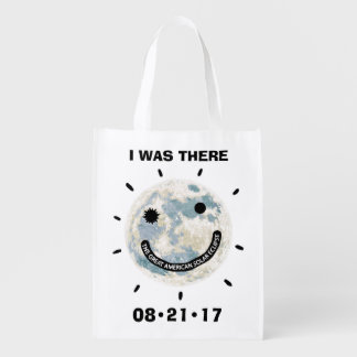 Great American Solar Eclipse I Was There Reusable Grocery Bag