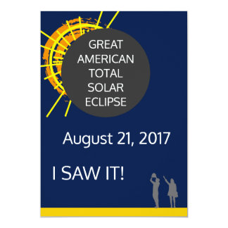 Great American Solar Eclipse observer certificate Card
