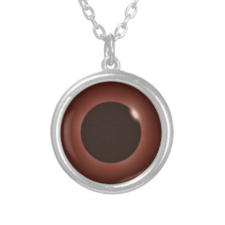 Great American Total Solar Eclipse 2017 Silver Plated Necklace