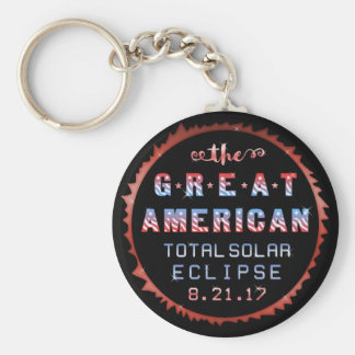 Great American Total Solar Eclipse August 21 2017 Key Ring