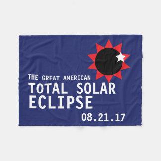 Great American Total Solar Eclipse Fleece Blanket