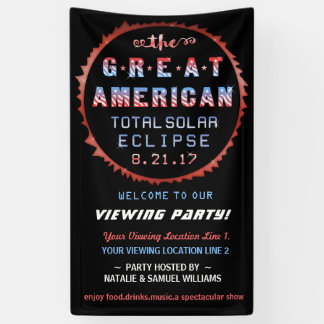Great American Total Solar Eclipse Viewing Party Banner