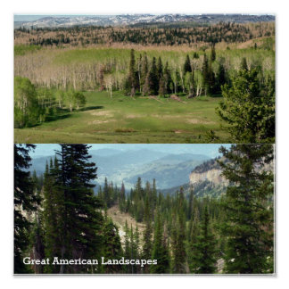 Great American Wile LandScapes Poster