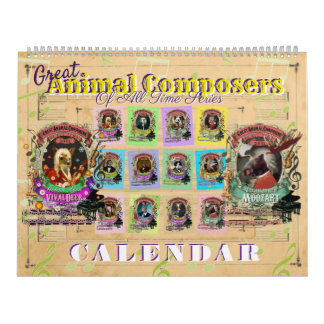 Great Animal Classical Music Composers Calendar