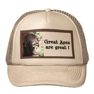 Great Apes are great! Mesh Hats