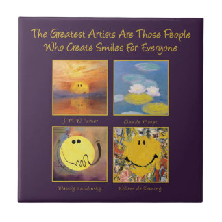 Great Artists Create Smiles Tile