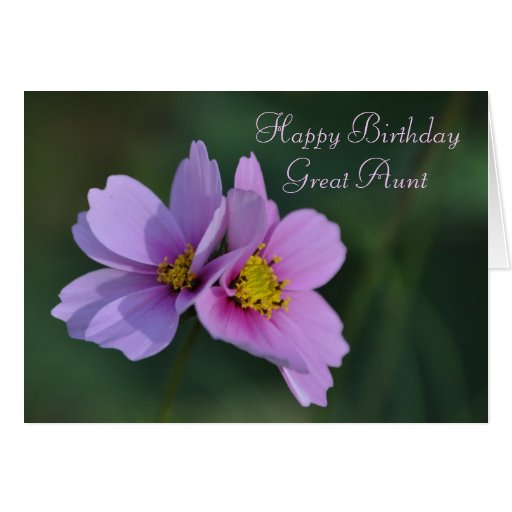Great Aunt Birthday Note Card