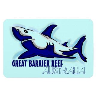 Great Barrier Reef Australia blue shark magnet