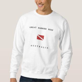 Great Barrier Reef Australia Scuba Dive Flag Sweatshirt