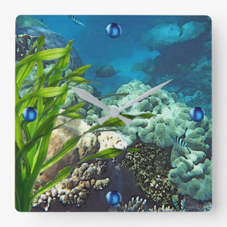 Great Barrier Reef Square Wall Clock