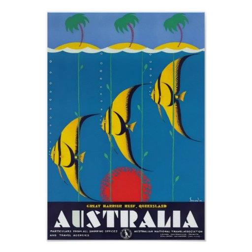 Great Barrier Reef Vintage Ad Poster