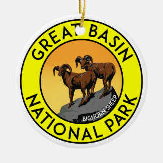 Great Basin National Park Nevada Ceramic Ornament
