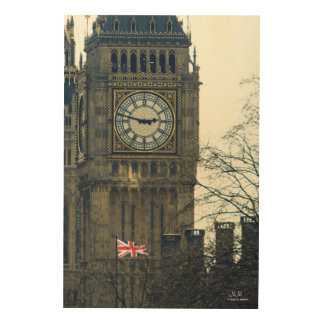 Great Bell (Big Ben) Wood Wall Art Wood Canvas