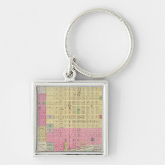 Great Bend, Albert, Kansas Silver-Colored Square Key Ring