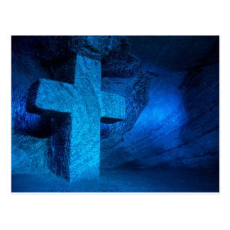 Great blue cross postcard
