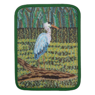 Great Blue Heron Beaded Print iPad Sleeve