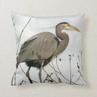 Great Blue Heron Bird Animal Wildlife Pillow