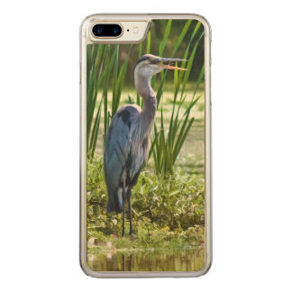 Great Blue Heron Bird at the Pond Carved iPhone 8 Plus/7 Plus Case