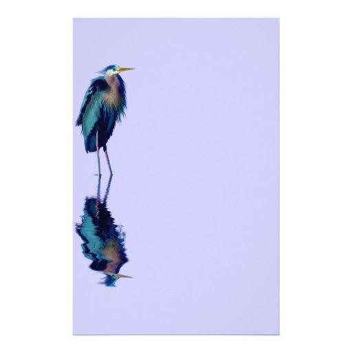 Great Blue Heron Birdlover's Wildlife Design Stationery Design