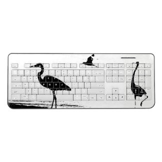 Great Blue Heron Birds Animal Wireless Keyboard