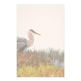 Great Blue Heron Birds Wildlife Animals Personalized Stationery