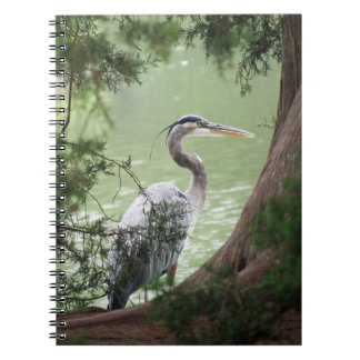 Great Blue Heron By The Bank Spiral Notebook