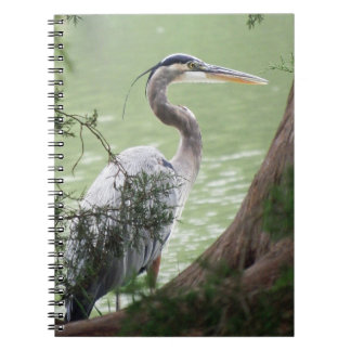 Great Blue Heron By The Tree Notebooks