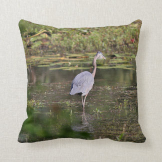 Great blue heron cushion