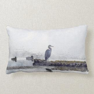 Great Blue Heron & Ducks Wildlife Mojo Pillow
