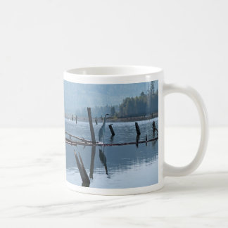 Great Blue Heron Haiku mug. Coffee Mug