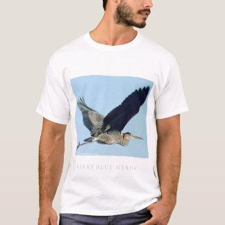 Great Blue Heron in Flight T-Shirt