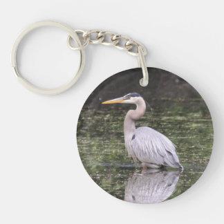 Great Blue Heron Key Ring